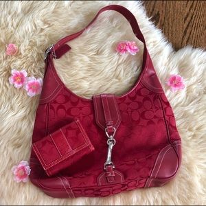 Red Coach purse and wallet